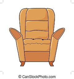 内部, 部分, 肘掛け椅子