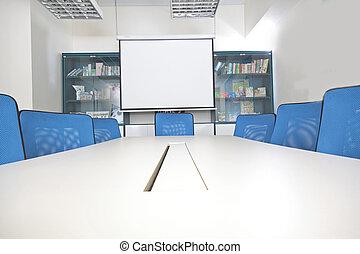 内部, 部屋, 会議