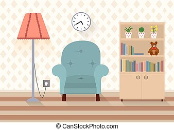 内部, 部屋, 家具