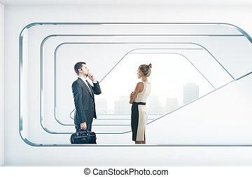 内部, businesspeople, 未来派