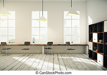 内部, coworking, デザイン, オフィス