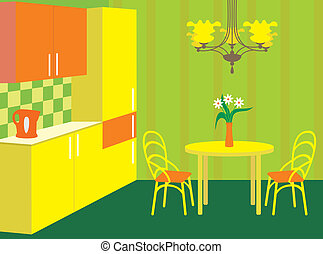 内部, furniture., 厨房