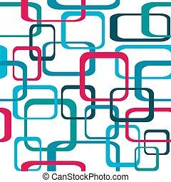 円形にされる, 色, パターン, -, seamless, ベクトル, レトロ, 背景, 正方形