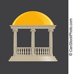 円形の建物, ionic, クラシック, 順序
