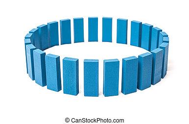 円, から, の, 青, ブロック