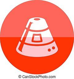 円, アイコン, -, カプセル, スペース