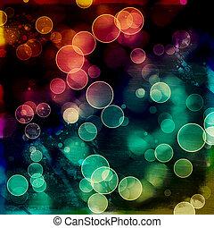 円, カラフルである, 明るい, 背景, bokeh