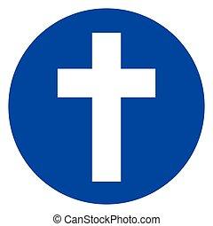 円, キリスト教徒, 交差点, アイコン
