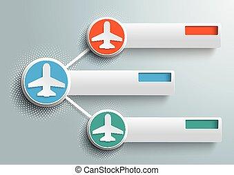 円, ネットワーク, halftone, 3, infographic, ジェット機