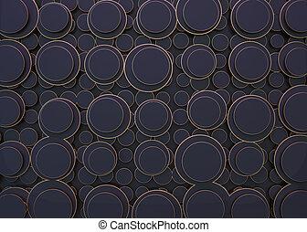 円, バックグラウンド。, 抽象的, イメージ, 3d