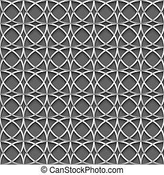 円, パターン, 灰色, seamless, 幾何学的, 3d