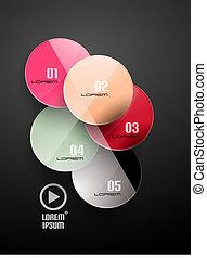 円, ビジネス, テンプレート, infographics