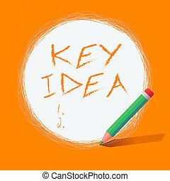 円, ビジネス, 重要, テキスト, ほとんど, 走り書き, 鉛筆, 考え, 中央である, 写真, showcasing, 白, 固体, メモ, 執筆, 使うこと, キー, conceptbased, 提示, idea., circle., ライン