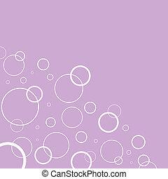 円, ピンク, 抽象的, 白い背景