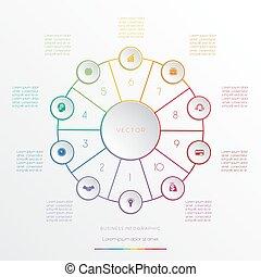 円, ポジション, infographic, 10
