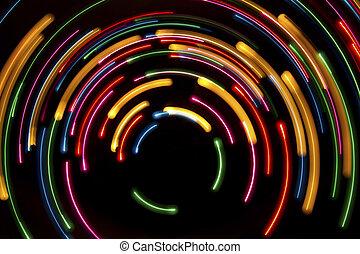 円, ライト, 背景