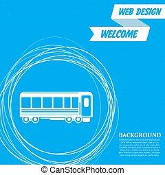 円, 乗客, のまわり, 列車, 抽象的, 青, text., ベクトル, wagons., 背景, 場所, あなたの, アイコン