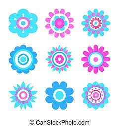 円, 作られた, 単純である, 形, 幾何学的, 花