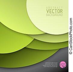 円, 作られた, 抽象的, ベクトル, 緑の背景