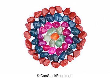 円, 宝石用原石