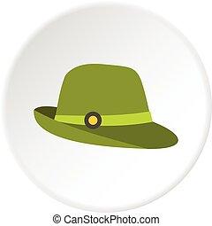 円, 帽子, アイコン