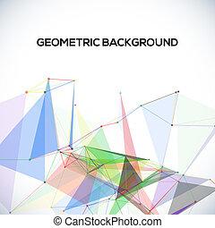 円, 形, 抽象的, polygonal, ライン, ベクトル, 背景, 三角形