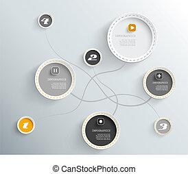 円, 影, 所有するため, text., 場所, あなたの, 3d