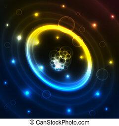 円, 抽象概念, 夜
