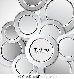 円, 抽象的, 技術, 背景