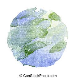 円, 水彩画, 白い背景