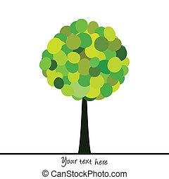 円, 緑の概要, 作られた, 木