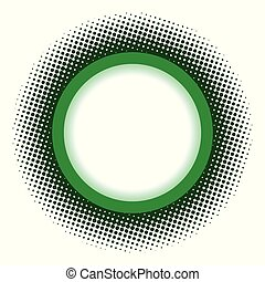 円, 緑, フレーム, halftone