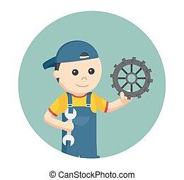 円, 背景, ギヤ, 機械工
