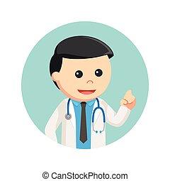 円, 背景, 医者