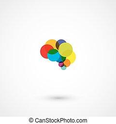 円, 脳, 抽象的なデザイン