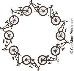 円, 自転車