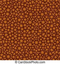 円, 茶色の 背景, チョコレート
