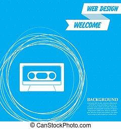 円, 青, のまわり, 抽象的, text., ベクトル, カセット, 背景, 場所, あなたの, アイコン