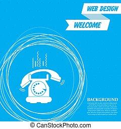 円, 青, のまわり, 抽象的, text., 電話, ベクトル, 場所, 背景, あなたの, アイコン