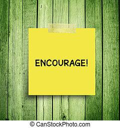 再保証, インスピレーシヨン, 木製である, 定義, 動機づけ, 励ましなさい, 壁, メモ