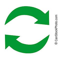 再循环, 绿色, 图标