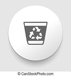 再循環, 垃圾, 矢量, 罐頭, 插圖