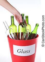 再循環, 玻璃