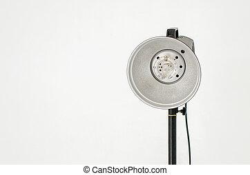 写真の装置, 隔離された, 上に, 灰色, 壁