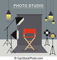 写真の スタジオ, 内部
