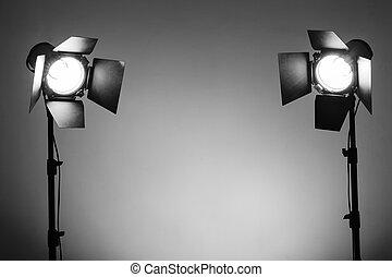 写真の スタジオ, 照明装置