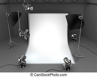 写真の スタジオ, 装置, 背景