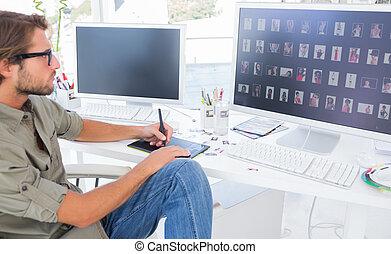 写真エディタ, 使うこと, digitizer, へ, 編集