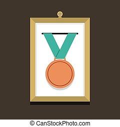 写真フレーム, メダル, 銅