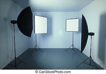 写真撮影所, 小さい, 部屋